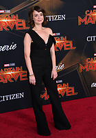 "LOS ANGELES, CA. March 04, 2019: Milana Vayntrub at the world premiere of ""Captain Marvel"" at the El Capitan Theatre.<br /> Picture: Paul Smith/Featureflash"