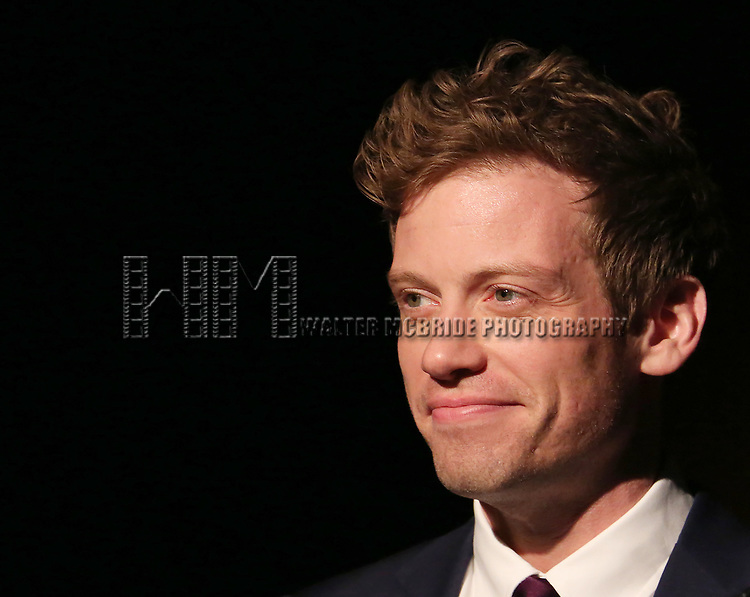 Barrett Foa on stage at the Vineyard Theatre 2017 Gala at the Edison Ballroom on March 14, 2017 in New York City.