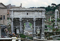 Italy: Rome--Roman Forum--Arch of Septimius Severus from the Capitoline Hill, A.D. 203.