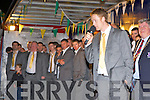 A disappointed Kerry captain Colm Cooper addresses the crowd who welcomed home the Kerry team in Killarney on Monday night