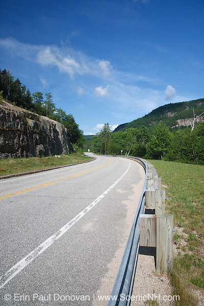 The Kancamagus Highway (route 112) during the summer months, which is one of New England's scenic byways. Located in the White Mountains, New Hampshire USA