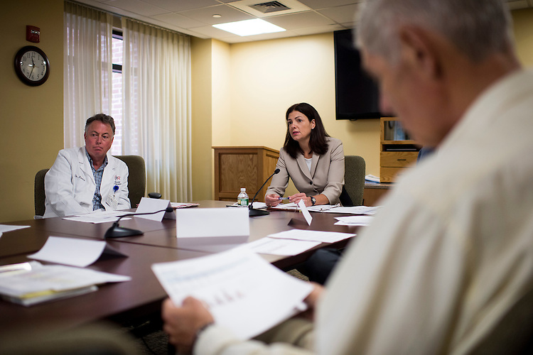 UNITED STATES - AUGUST 26: Sen. Kelly Ayotte, R-N.H., holds her heroin epidemic roundtable discussion at the Lakes Region General Hospital in Laconia , N.H., on Wednesday, Aug. 26, 2015. (Photo By Bill Clark/CQ Roll Call)