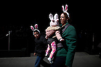 A family wears bonny-ears while they take part during the annual easter parade in Manhattan, New York, 03.27.2016. This annual tradition has been taking place in New York City for over 100 years, Photo by VIEWpress.