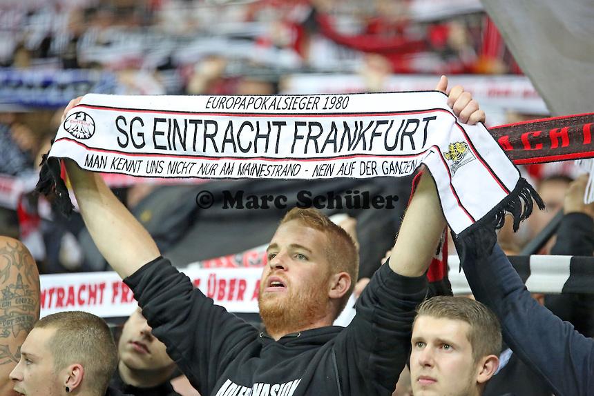 Fans von Eintracht Frankfurt feiern - Eintracht Frankfurt vs. Macabi Tel Aviv, Europa League 3. Spieltag