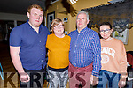 Mary and Pat O'Callaghan from Abbeydorney celebrating 21 years of marriage and enjoying the evening in the Brogue Inn on Saturday night..<br />  Standing l to r: Padraig, Mary, Pat and Emily O'Callaghan