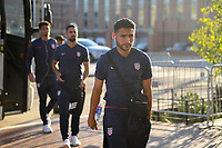 WASHINGTON D.C. - OCTOBER 11: Cristian Roldan of the United States walks off the team bus prior to their Nations League game versus Cuba at Audi Field, on October 11, 2019 in Washington D.C.