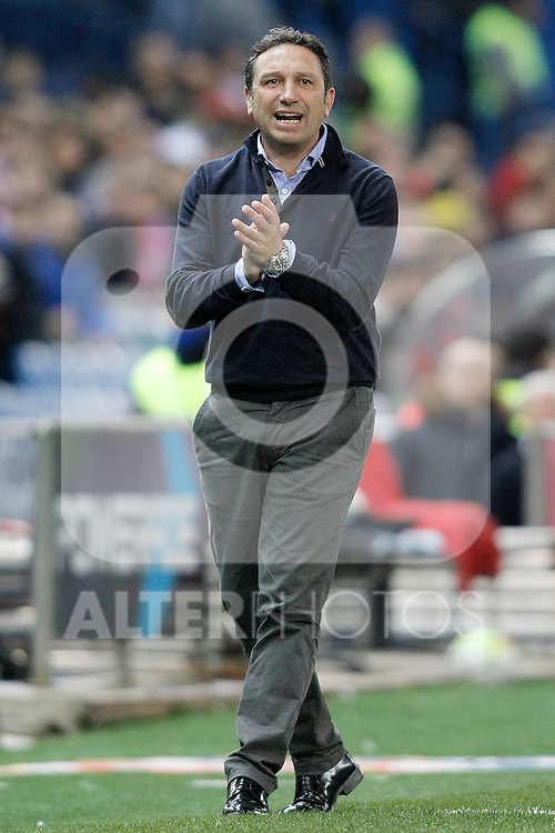 Real Sociedad's coach Eusebio Sacristan during La Liga match. March 1,2016. (ALTERPHOTOS/Acero)