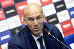 Real Madrid's coach Zinedine Zidane in press conference after La Liga match. April 5,2017. (ALTERPHOTOS/Acero)