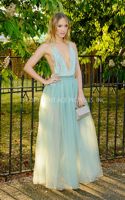 WWW.ACEPIXS.COM<br /> <br /> July 2 2015, New York City<br /> <br /> Suki Waterhouse arriving at The Serpentine Gallery summer party at The Serpentine Gallery on July 2, 2015 in London, England<br /> <br /> By Line: Famous/ACE Pictures<br /> <br /> <br /> ACE Pictures, Inc.<br /> tel: 646 769 0430<br /> Email: info@acepixs.com<br /> www.acepixs.com