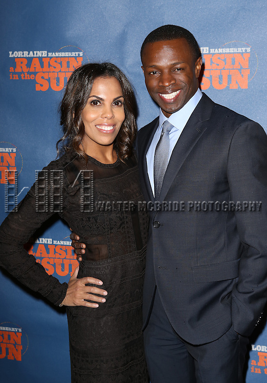 "Aonika Laurent Thomas and Sean Patrick Thomas attends the Broadway Opening Night After Party for  ""A Raisin In The Sun"" at Tribeca Rooftop on April 3, 2014 in New York City."