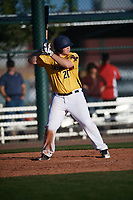 Ryan Gervais (20) of St. Bernard High School in Los Angeles, California during the Baseball Factory All-America Pre-Season Tournament, powered by Under Armour, on January 13, 2018 at Sloan Park Complex in Mesa, Arizona.  (Mike Janes/Four Seam Images)