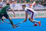Krefeld, Germany, May 19: During the Final4 Gold Medal fieldhockey match between Uhlenhorst Muelheim and Mannheimer HC on May 19, 2019 at Gerd-Wellen Hockeyanlage in Krefeld, Germany. (worldsportpics Copyright Dirk Markgraf) *** Gonzalo Peillat #2 of Mannheimer HC