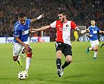 28.11.2019: Feyenoord v Rangers: Alfredo Morelos and Marcos Senesi