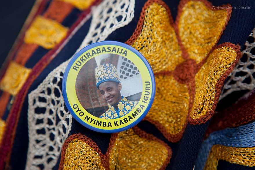 April 17, 2010 - Karuzika Royal Palace, Fort Portal, Uganda - king Oyo's badge. Today is the 18th birthday and coronation celebrations of Uganda's King of the Tooro Kingdom, King Oyo Nyimba Kabamba Iguru Rukidi IV, in Karuzika Royal Palace at Fort Portal. King Oyo is one of the world's youngest ruling monarchs. He ascended to throne at age three after his father, King Olimi Kaboyo, died of a heart attack in 1995. He rules over more than 2 million people in the Tooro kingdom, one of four kingdoms allowed by the government to exist in Uganda. Today he assumed the full duties of King of the Tooros as he reachs adulthood. Photo credit: Benedicte Desrus /Sipa Press