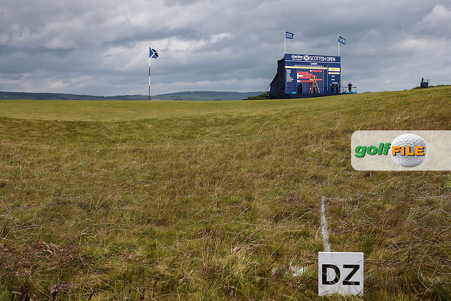 Back of the 18th green during the First Round of the 2016 Aberdeen Asset Management Scottish Open, played at Castle Stuart Golf Club, Inverness, Scotland. 07/07/2016. Picture: David Lloyd | Golffile.<br /> <br /> All photos usage must carry mandatory copyright credit (&copy; Golffile | David Lloyd)