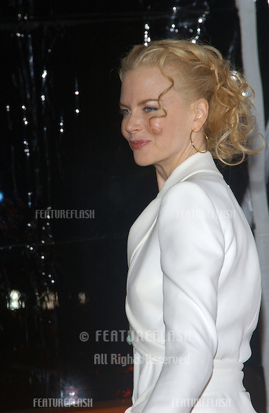 Actress NICOLE KIDMAN at the Los Angeles premiere of her new movie Cold Mountain..December 7, 2003