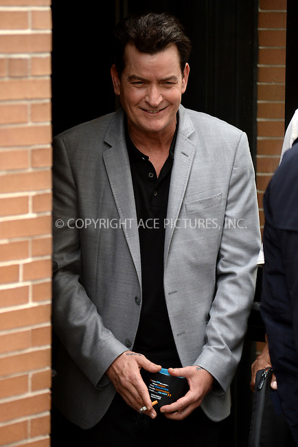 www.acepixs.com<br /> January 12, 2017 New York City<br /> <br /> Charlie Sheen seen smoking after taping The View on January 12, 2017 in New York City.<br /> <br /> Credit: Kristin Callahan/ACE Pictures<br /> <br /> <br /> Tel: (646) 769 0430<br /> e-mail: info@acepixs.com