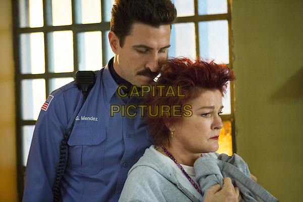 Pablo Schreiber and Kate Mulgrew<br /> in Orange Is the New Black (2013&ndash; ) <br /> (Season 1)<br /> *Filmstill - Editorial Use Only*<br /> CAP/NFS<br /> Image supplied by Netflix/Capital Pictures