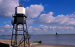 A728G4 Victorian lighthouse beacon structures Leading Lights Dovercourt Essex England