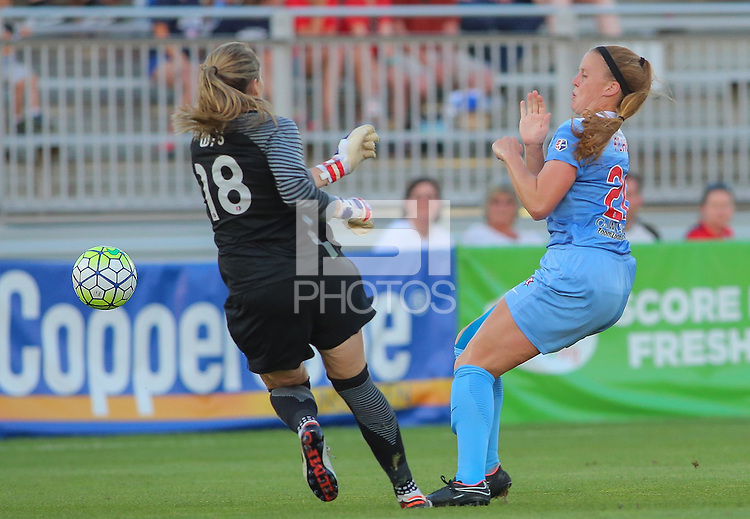Boyds, MD - Saturday July 09, 2016: Kelsey Wys, Danielle Colaprico during a regular season National Women's Soccer League (NWSL) match between the Washington Spirit and the Chicago Red Stars at Maureen Hendricks Field, Maryland SoccerPlex.