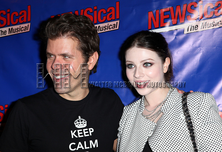 Perez Hilton & Michelle Trachtenberg attending the Opening Night Performance of Perez Hilton in 'NEWSical The Musical' at the Kirk Theatre  in New York City on September 17, 2012.