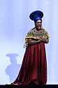 "PHOTOS ARE EMBARGOED UNTIL 19:30 28TH SEPTEMBER 2017. London, UK. 26.09.2017. English National Opera presents Verdi's ""Aida"", directed by Phelim McDermott, at the London Coliseum. Picture shows: Latonia Moore (Aida). Photograph © Jane Hobson."