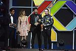 01.12.2016 Barcelona. Los 40 music awards 2016. Jey Valvin mejor artita sudamericano