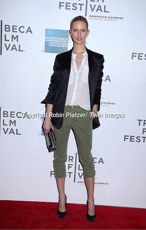 "Karolina Kurkova attending The Tribeca Film Festival 2011 screening of .""The Bang Bang Club"" on April 21, 2011 at BMCC/TPAC in New York City. The movie stars Ryan Phillippe and Malin Akerman."