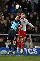 Danny Foster of Wycombe and Lawrie Wilson of Stevenage header. - Wycombe Wanderers v Stevenage - Adams Park, High Wycombe - 31st December 2011  .© Kevin Coleman 2011