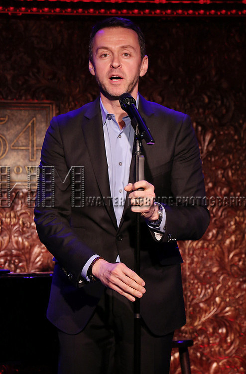 """Andrew Lippa performs A Special Press Preview of their upcoming show """"The Wild Party Swings""""  at 54 Below on April 4, 2014 in New York City."""
