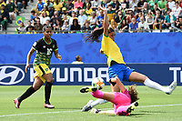 Beatriz  (bresil) vs Sydney Schneider (jamaique)<br /> Grenoble 09-06-2019 <br /> Football Womens World Cup <br /> Brazil - Jamaica <br /> Brasile - Giamaica<br /> Photo Frederic Chambert / Panoramic/Insidefoto <br /> ITALY ONLY