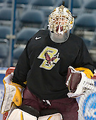 Joe Pearce - The Boston College Eagles practiced on Wednesday, April 5, 2006, at the Bradley Center in Milwaukee, Wisconsin, in preparation for their 2006 Frozen Four Semi-Final game against the University of North Dakota.