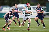 Kieran Murphy of Ealing Trailfinders goes on the attack. Greene King IPA Championship match, between Ealing Trailfinders and Doncaster Knights on February 9, 2019 at the Trailfinders Sports Ground in London, England. Photo by: Patrick Khachfe / Onside Images