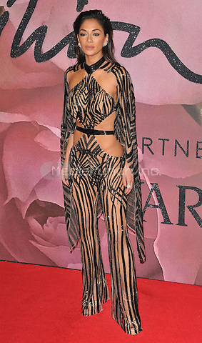 Nicole Scherzinger at the Fashion Awards 2016, Royal Albert Hall, Kensington Gore, London, England, UK, on Monday 05 December 2016. <br /> CAP/CAN<br /> ©CAN/Capital Pictures /MediaPunch ***NORTH AND SOUTH AMERICAS ONLY***