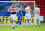 St Johnstone v Hamilton Accies...10.05.11.Mark McLaughlin trudges off.Picture by Graeme Hart..Copyright Perthshire Picture Agency.Tel: 01738 623350  Mobile: 07990 594431