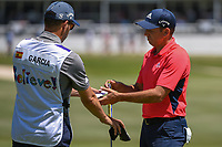Sergio Garcia (ESP) after sinking his par putt on 18 during round 1 of the WGC FedEx St. Jude Invitational, TPC Southwind, Memphis, Tennessee, USA. 7/25/2019.<br /> Picture Ken Murray / Golffile.ie<br /> <br /> All photo usage must carry mandatory copyright credit (© Golffile | Ken Murray)