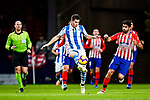 Igor Zubeldia of Real Sociedad (L) in action against Diego Costa of Atletico de Madrid (R) during the La Liga 2018-19 match between Atletico de Madrid and Real Sociedad at Wanda Metropolitano on October 27 2018 in Madrid, Spain.  Photo by Diego Souto / Power Sport Images