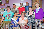 The 2011 Rose of Tralee Tara Talbot who got a great welcome to Cuil Didin Nursing Home on Wednesday morning by Staff of Cuil Didin, Front l-r: DEclan O'Connor, Tara Talbot (Rose of Tralee, Catriona O'Connor(manager), Bríd O'Connor and Josie Brosnan. Back l-r: Derek Kelly, Padraig O'Connor and Sonny Griffin.