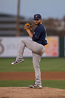 Milwaukee Brewers starting pitcher Bubba Derby (41) during a Minor League Spring Training game against the Los Angeles Angels at Tempe Diablo Stadium on March 29, 2018 in Tempe, Arizona. (Zachary Lucy/Four Seam Images)