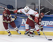 Dan Bertram, Matt Christie, Brock Bradford - The Boston College Eagles defeated the Miami University Redhawks 5-0 in their Northeast Regional Semi-Final matchup on Friday, March 24, 2006, at the DCU Center in Worcester, MA.