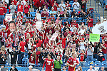 09 December 2012: Indiana fans celebrate the goal. The Georgetown University Hoyas played the Indiana University Hoosiers at Regions Park Stadium in Hoover, Alabama in the 2012 NCAA Division I Men's Soccer College Cup Final. Indiana won the game 1-0.