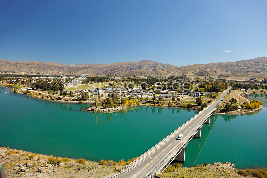 Looking across the bridge towards Cromwell on a perfect Central Otago sunny day.