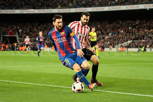11.01.2017, Nou Camp, Barcelona, Spain. Copa del Rey, 2nd leg. FC. Barcelona versus Athletico Bilbao. Messi in action during the match