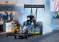 Jul 29, 2018; Sonoma, CA, USA; NHRA top fuel driver Scott Palmer during the Sonoma Nationals at Sonoma Raceway. Mandatory Credit: Mark J. Rebilas-USA TODAY Sports