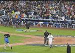 Nobuhiro Matsuda (JPN),<br /> MARCH 21, 2017 - WBC<br /> United States players celebrate as Nobuhiro Matsuda of Japan walks back to the dugout after striking out swinging to end the 2017 World Baseball Classic Semifinal game at Dodger Stadium in Los Angeles, California, United States. (Photo by AFLO)