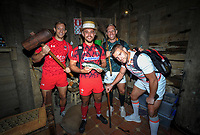 2018 Hamilton Sevens teams visit Hobbiton in Matamata, New Zealand on Tuesday, 30 January 2018. Photo: Dave Lintott / lintottphoto.co.nz
