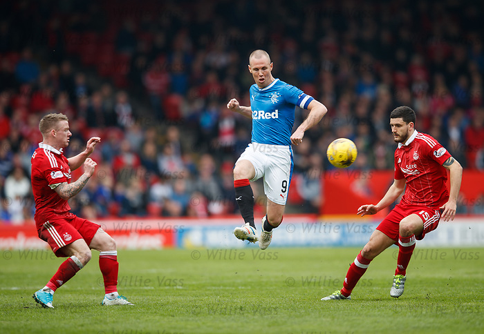 Kenny Miller with a defence splitting pass