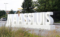 Nederland Maassluis.  2016 08 05.  Maassluis letters bij het Douanehuisje.  Foto Berlinda van Dam / Hollandse Hoogte