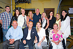 ENGAGEMENT: On Saturday evening Marcus Zeilerbauer who announced his engagement to Elida Flavin Lisselton in Bunker Bar & Restaurant ballybunion. Front l-r: Mike Flavin,marcus Zeilerbauer,Elida and Liz Flavin. Back l-r: Sean Farrell,Karol Brennan,Georgina Keane,Oliva Mulcare,Michael O'Hara,Marina and Eilhne Allen,Ayla and Bernie Farrell.