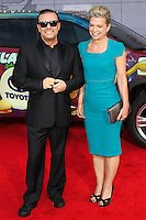 """HOLLYWOOD, LOS ANGELES, CA, USA - MARCH 11: Ricky Gervais, Jane Fallon at the World Premiere Of Disney's """"Muppets Most Wanted"""" held at the El Capitan Theatre on March 11, 2014 in Hollywood, Los Angeles, California, United States. (Photo by Xavier Collin/Celebrity Monitor)"""